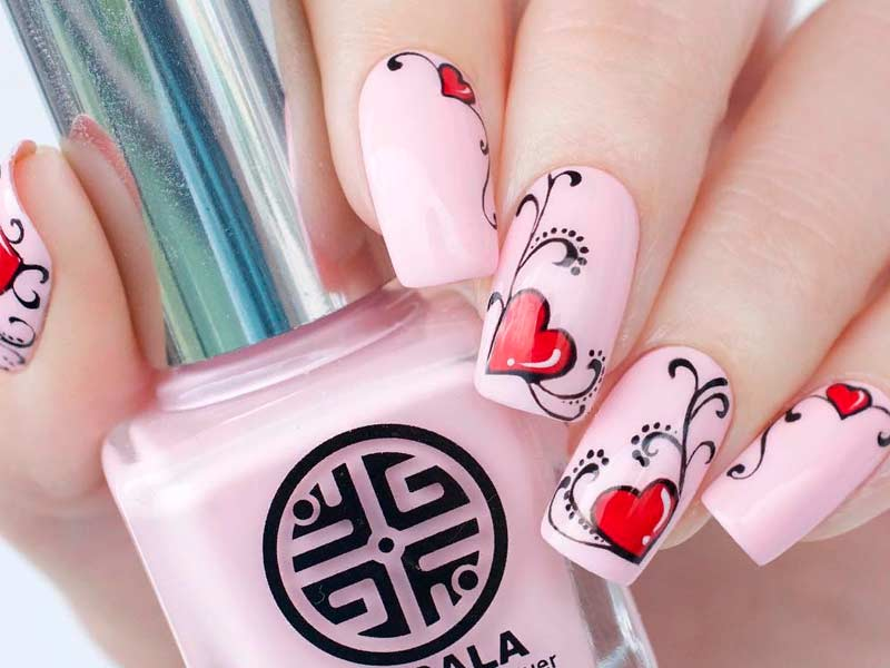 Easy Tutorials Of Hot Valentines Nails Designs