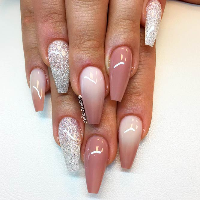 Soft Pastel Cool Nails Color Combos For Brown And White picture 1