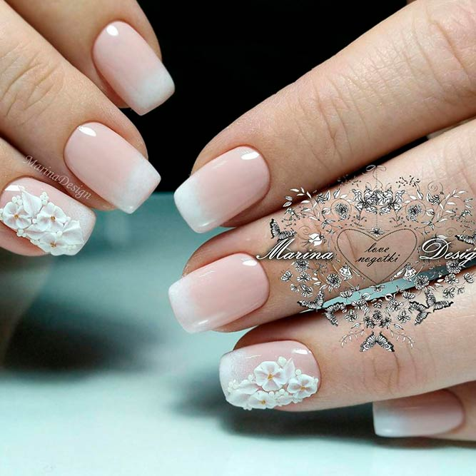 Soft Pale Color Combos With Floral Nail Art picture 1