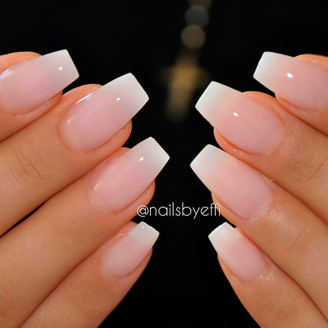 French Shade With Nude And White Colors picture 1