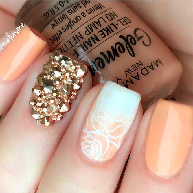 Soft Pale Color Combos With Floral Nail Art picture 3