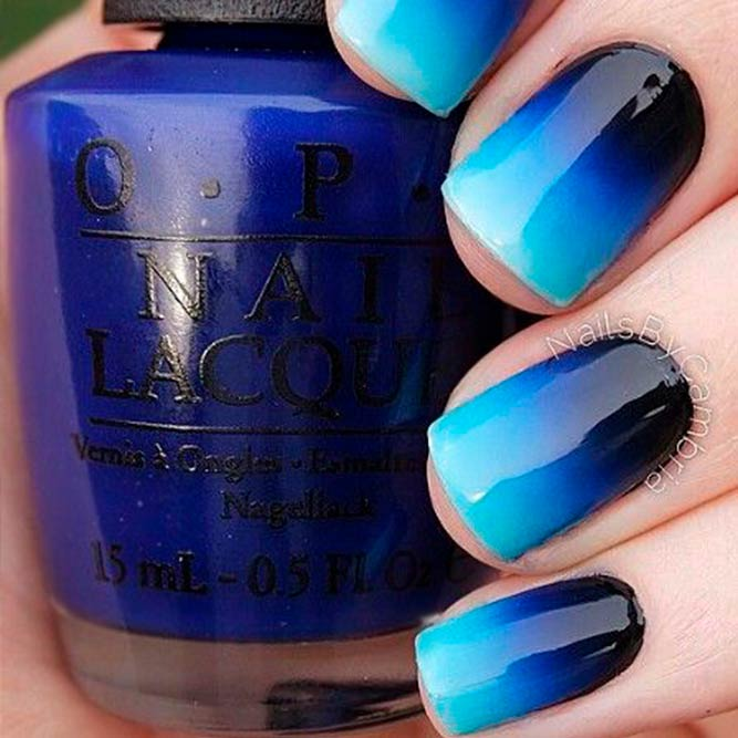 Deep And Light Blue Ombre picture 1