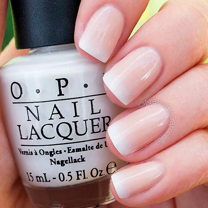 French Shade With Nude And White Colors picture 2