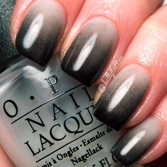 Cool Nails Color Combos For Black And Grey picture 2