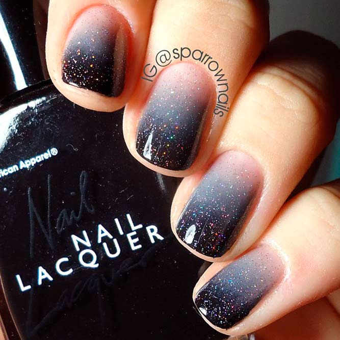Cool Nails Color Combos For Black And Grey picture 1