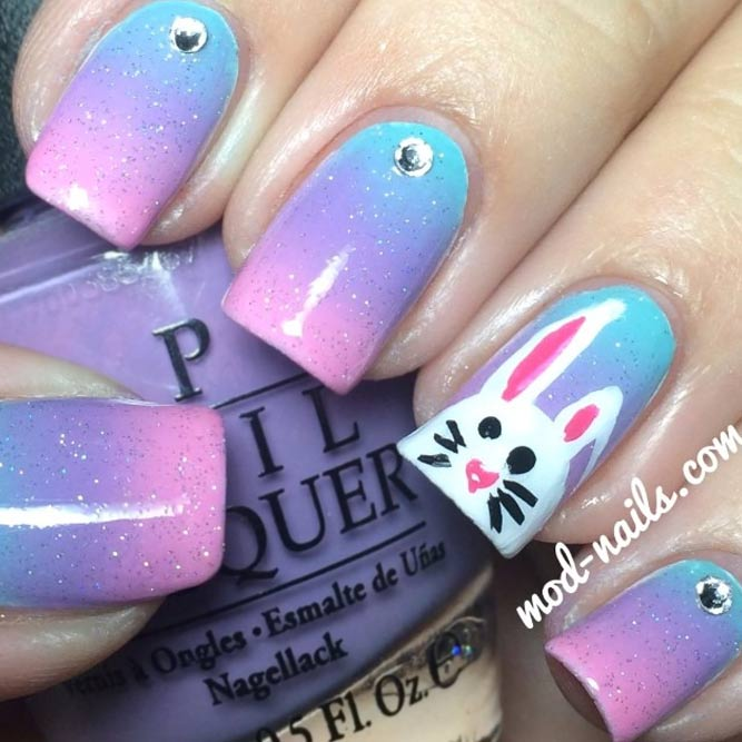 Rabbit Easter Nail Art Ideas picture 5