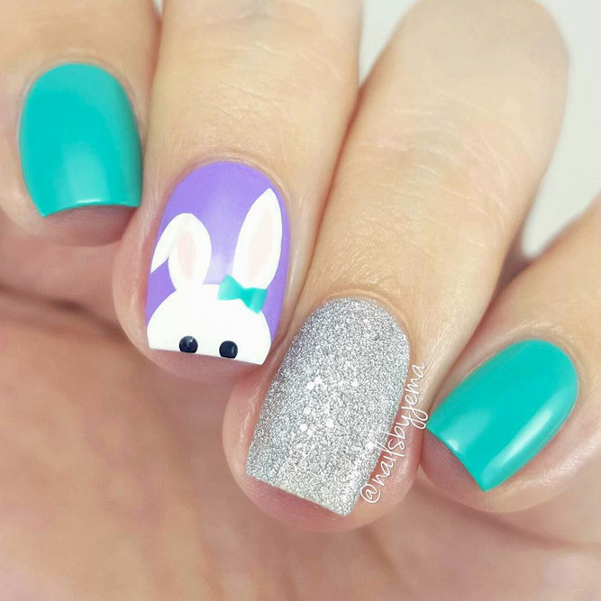 Rabbit Easter Nail Art Ideas picture 7