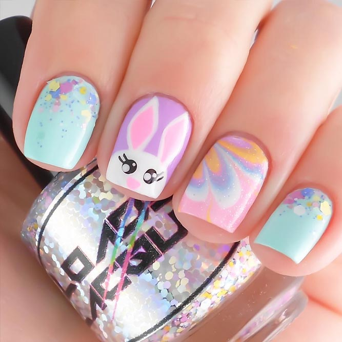 Rabbit Easter Nail Art Ideas picture 2