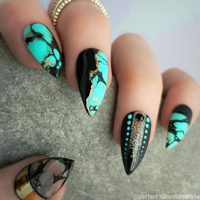 Stone Nail Art Design picture 1