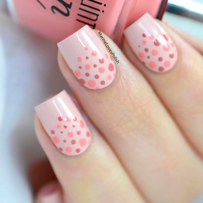 Peach Accents For Your Nails picture 2