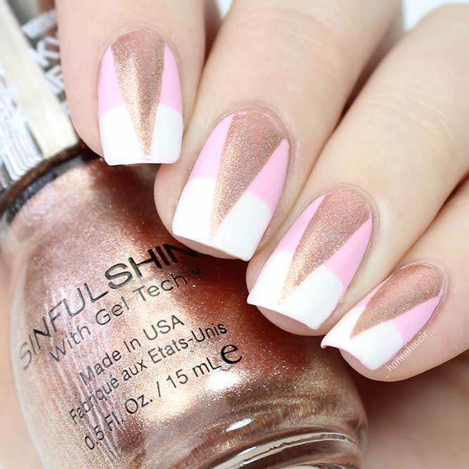 Stylish Ideas For Rose Gold Nail Designs picture 3