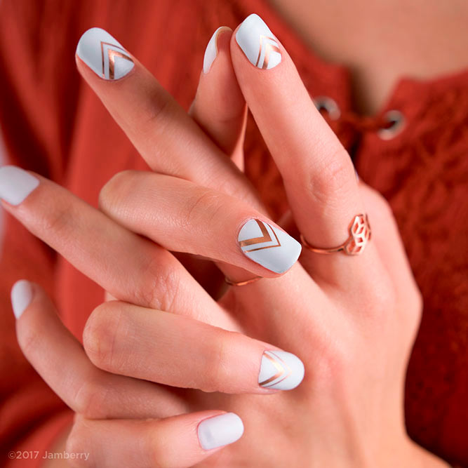 10 Elegant Rose Gold Nail Designs: Elegant Rose Gold Nails Ideas To Impress