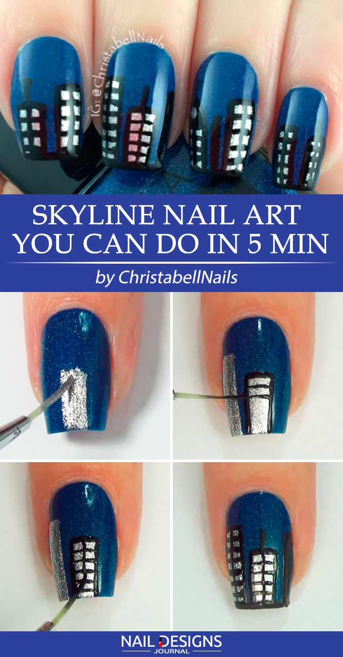 Skyline Nail Art You Can Do In 5 Min