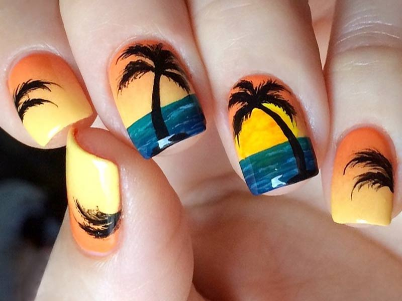 27 Spicy Nail Designs For A Spring Break | NailDesignsJournal