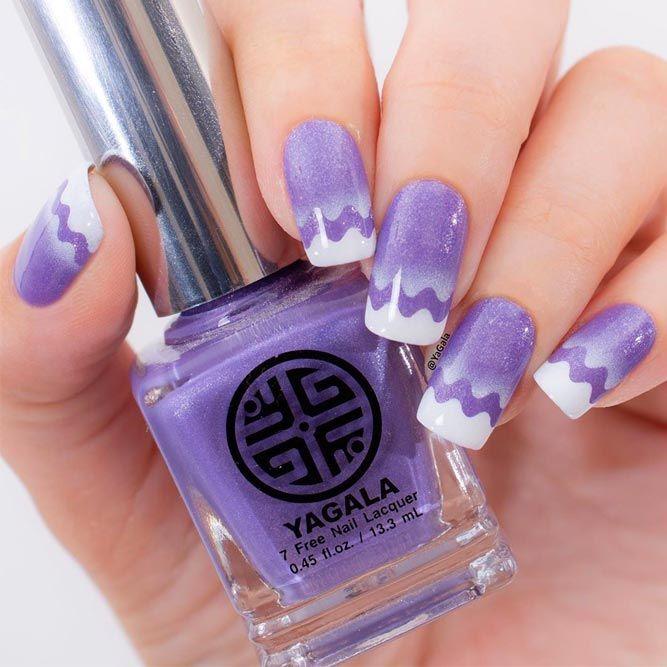 Sweet Purple Wave Pattern With Aeropuffing Art