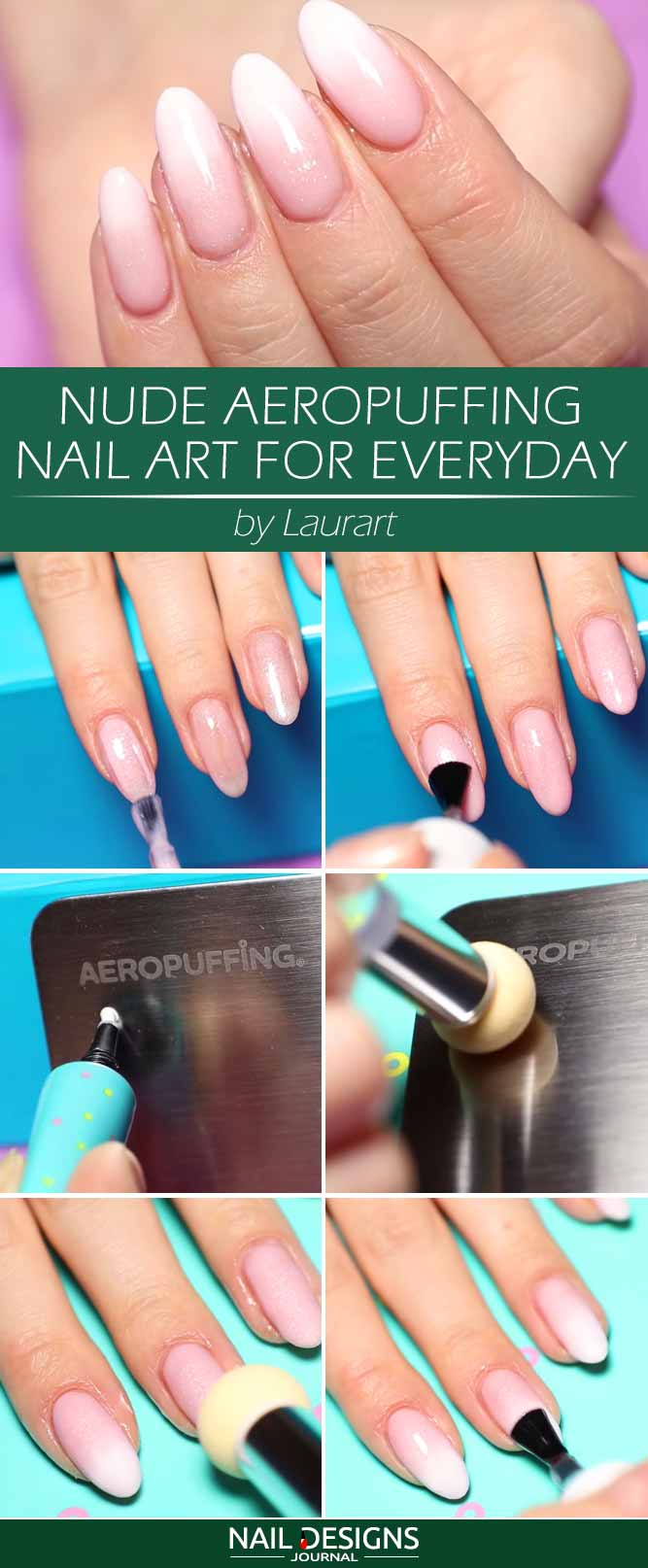 Nude Aeropuffing Nail Art For Everyday