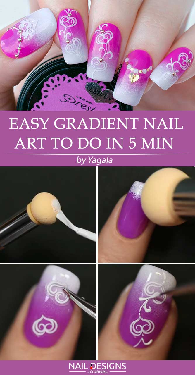 Easy Gradient Nail Art To Do In 5 Min