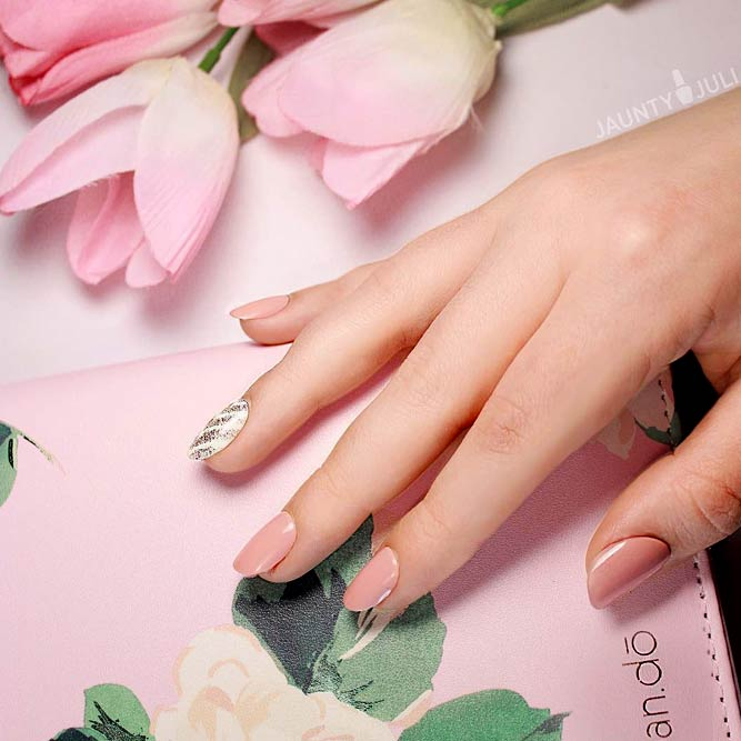 Peach Pastel Colors Nails Designs picture 3