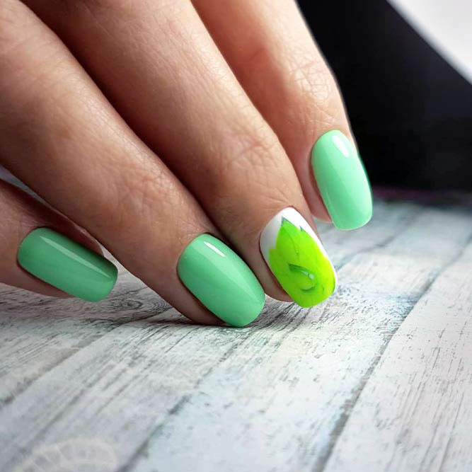 Gentle Green Nail Colors Shades picture 3