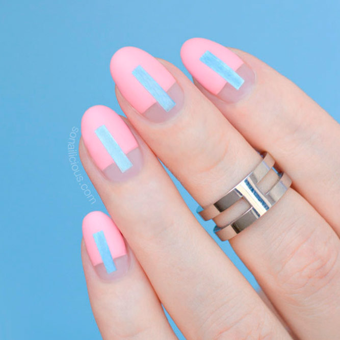 Gentle Pale Pink Nails picture 3