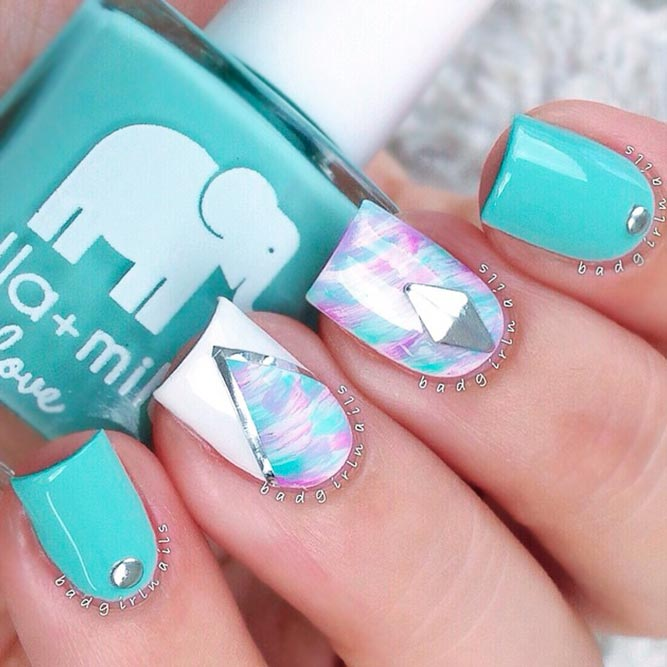 Light Blue Nails Designs picture 3