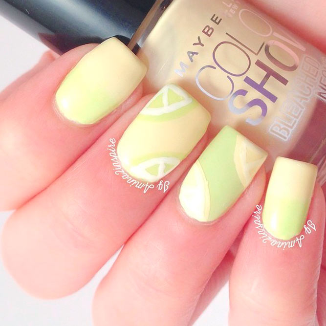 Pale Yellow Nail Designs picture 2