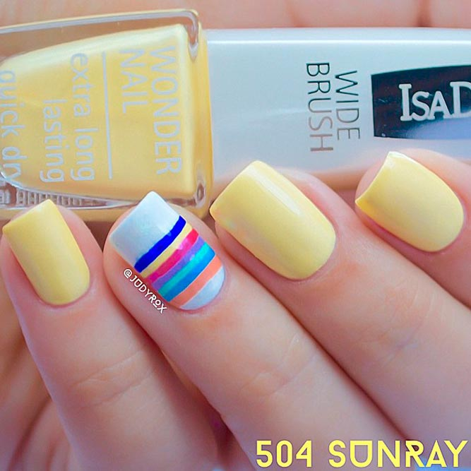 Pale Yellow Nail Designs picture 3