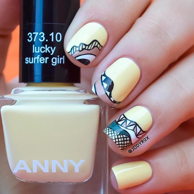 Pale Yellow Nail Designs picture 1