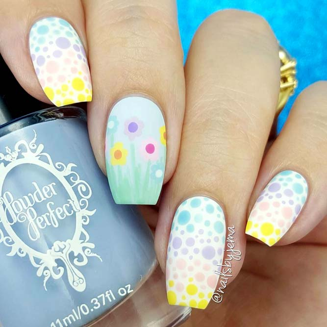 Nails With Polka Dots Rainbow picture3