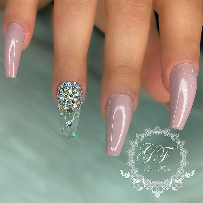 Nails With Rhinestone Accent picture 3