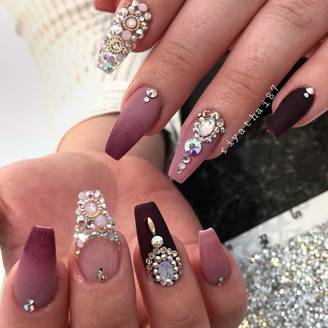 Ombre Design With Stones picture1