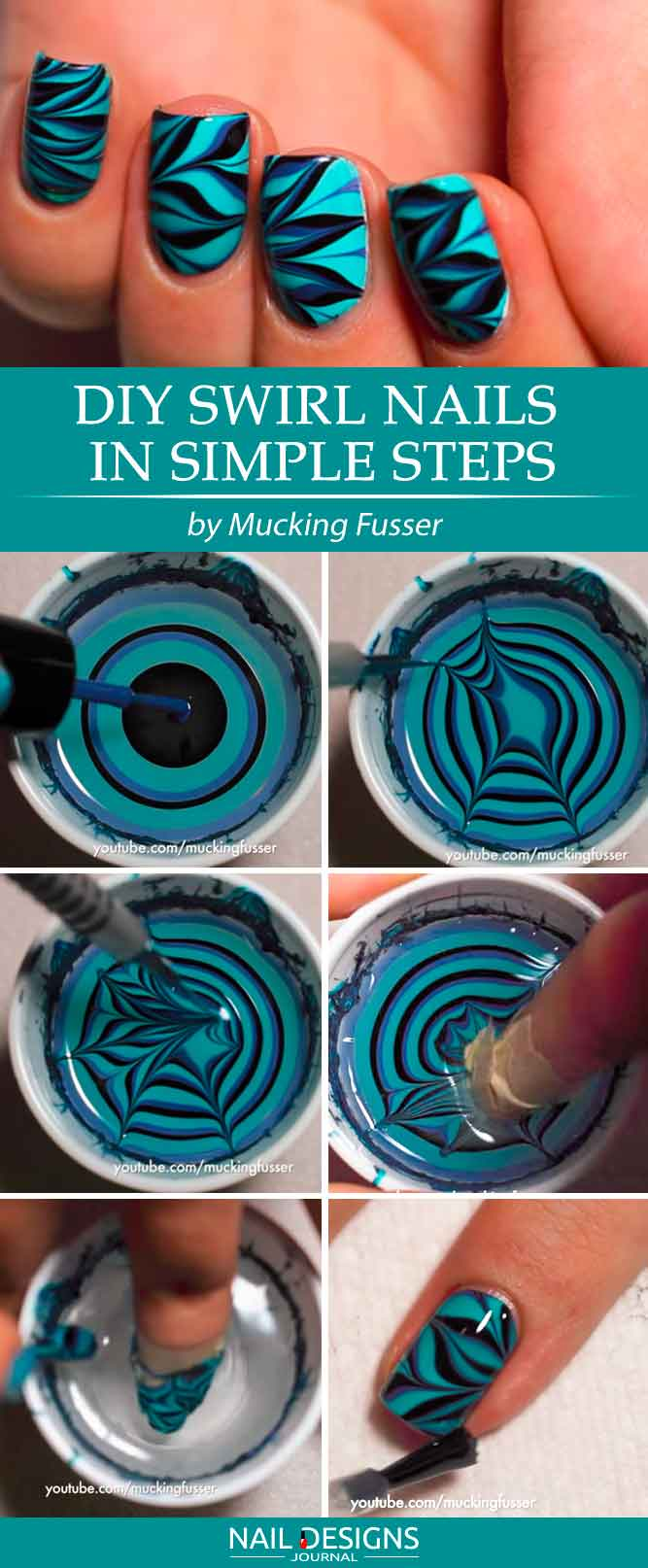 Swirl Nails In Simple Steps