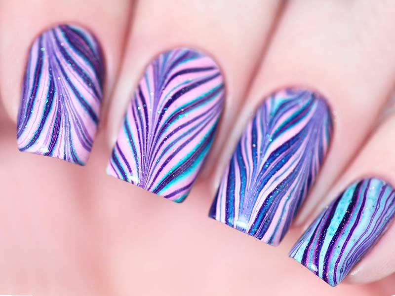 Water Marble Nails Tutorials You Can Repeat at Home
