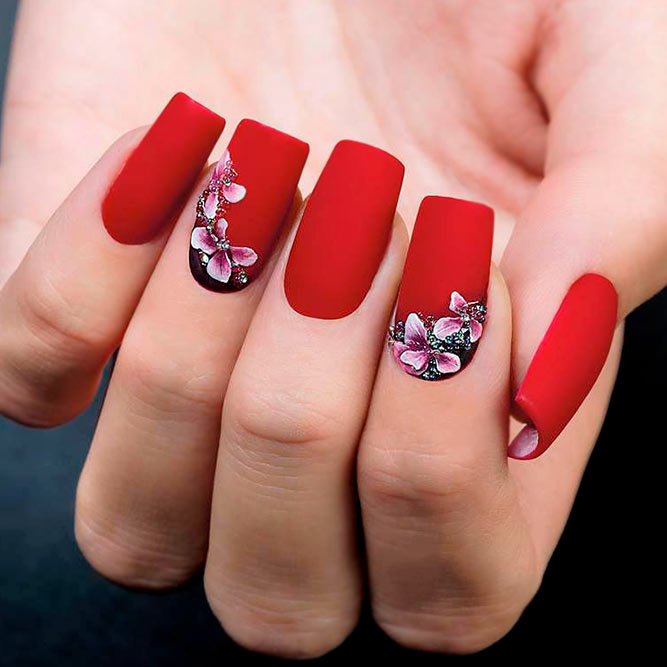 Gorgeous 3-D Floral Nail Art picture 3