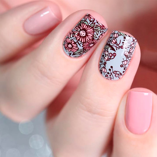 Easy Ways to Do Nails With Beautiful Flowers | NailDesignsJournal.com