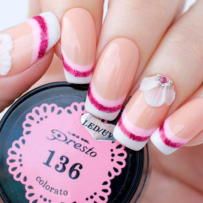 Gorgeous 3-D Floral Nail Art picture 2
