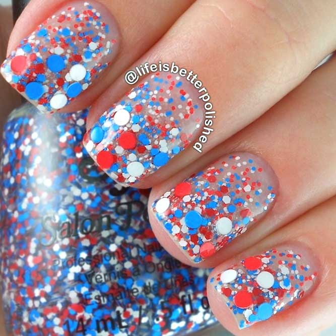 Dotted Ombre In Flag Colors picture 2