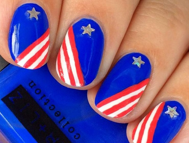 Ideas Of Patriotic Memorial Day Nail Designs