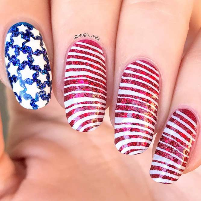American Flag Nail Art picture 2