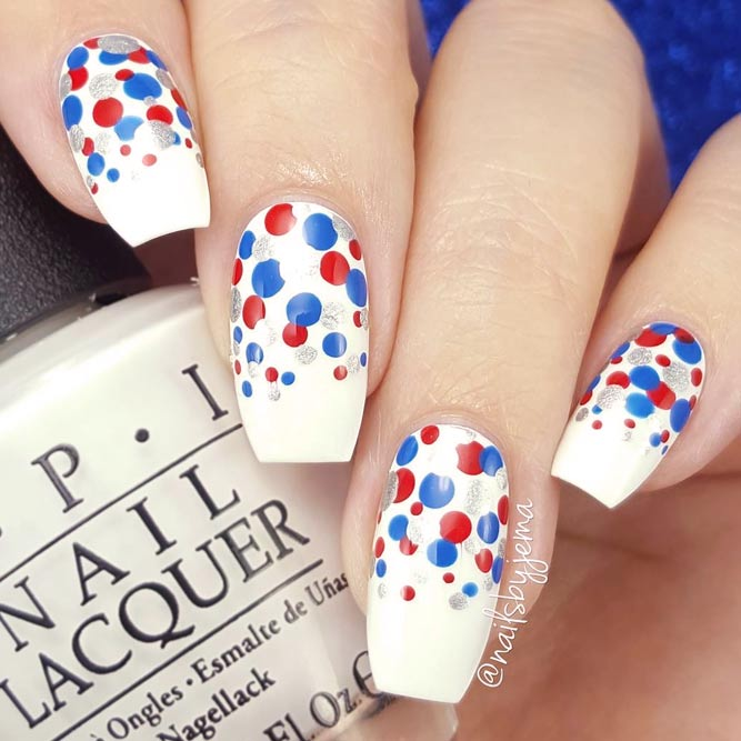 Dotted Ombre In Flag Colors picture 1