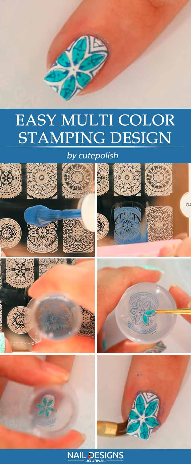 Easy Multi Color Stamping Design