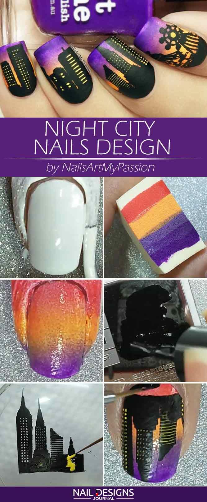 Night City Nails Design