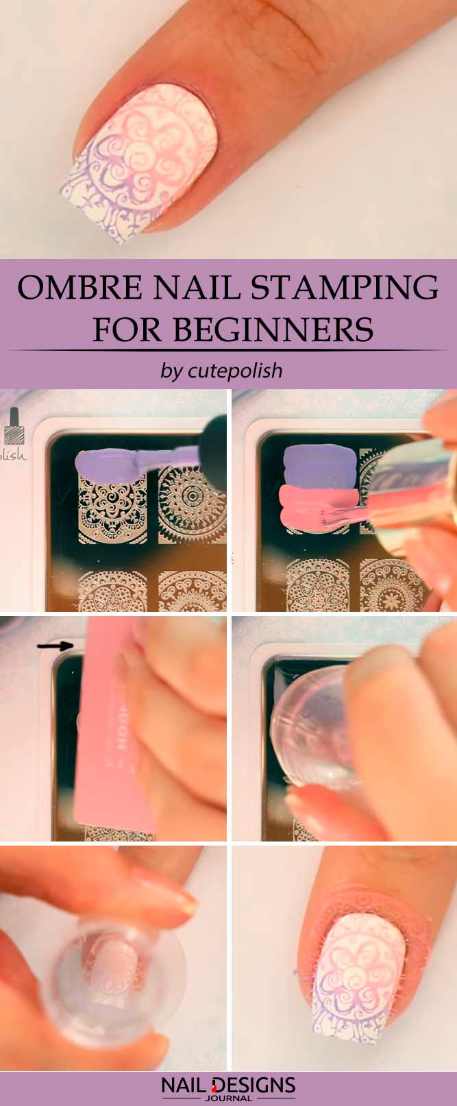 Ombre Nail Stamping For Beginners