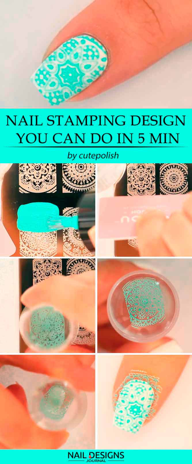 Simple Nail Stamping Design You Can Do In 5 Min