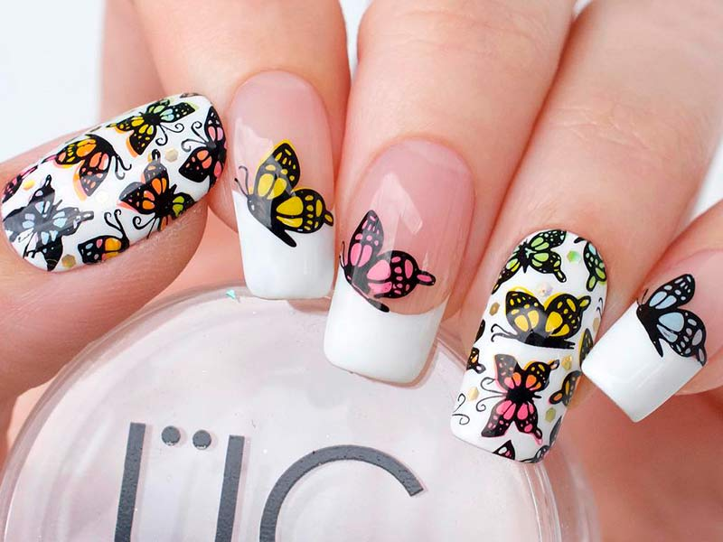 Beautiful Butterfly Nails Tutorials To Create A Masterpiece