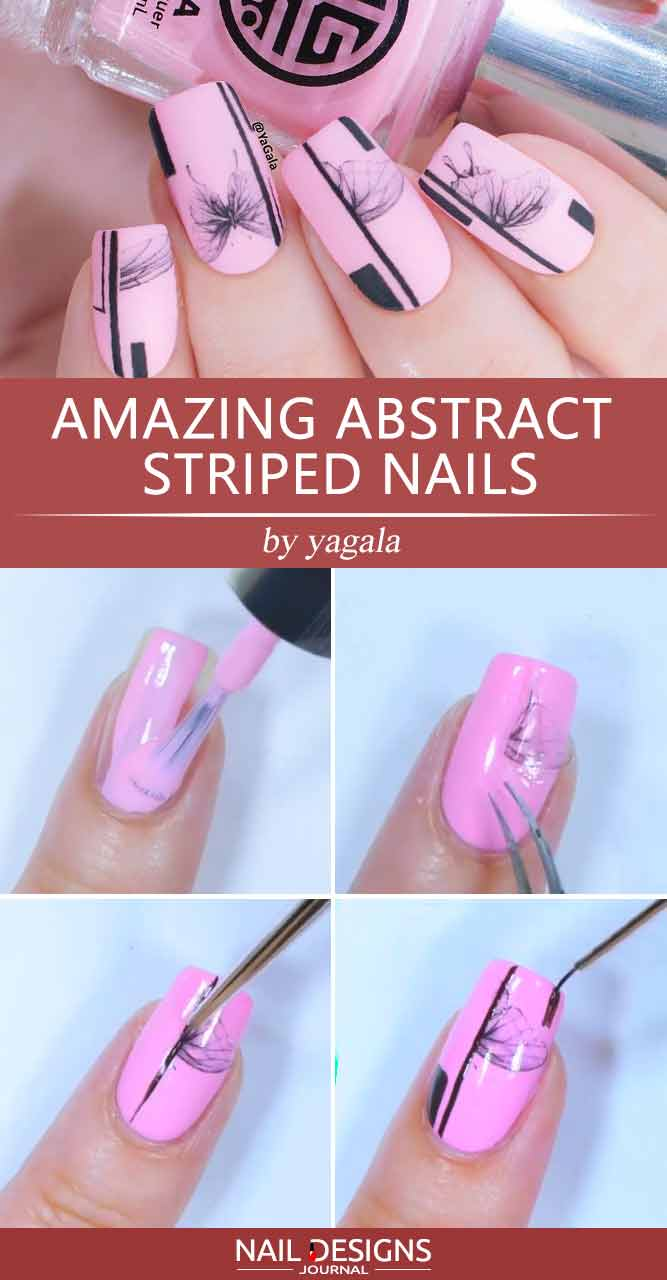 Amazing Abstract Striped Nails