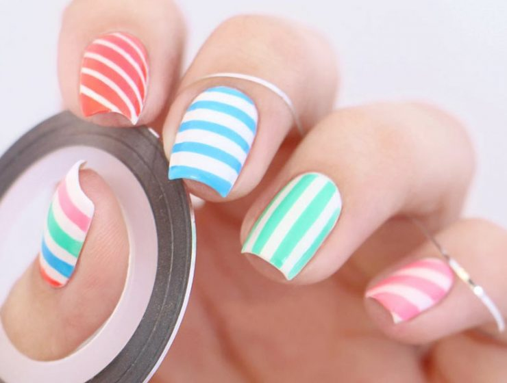Easy And Unique Striped Nails Ideas To Pull Of Right Now