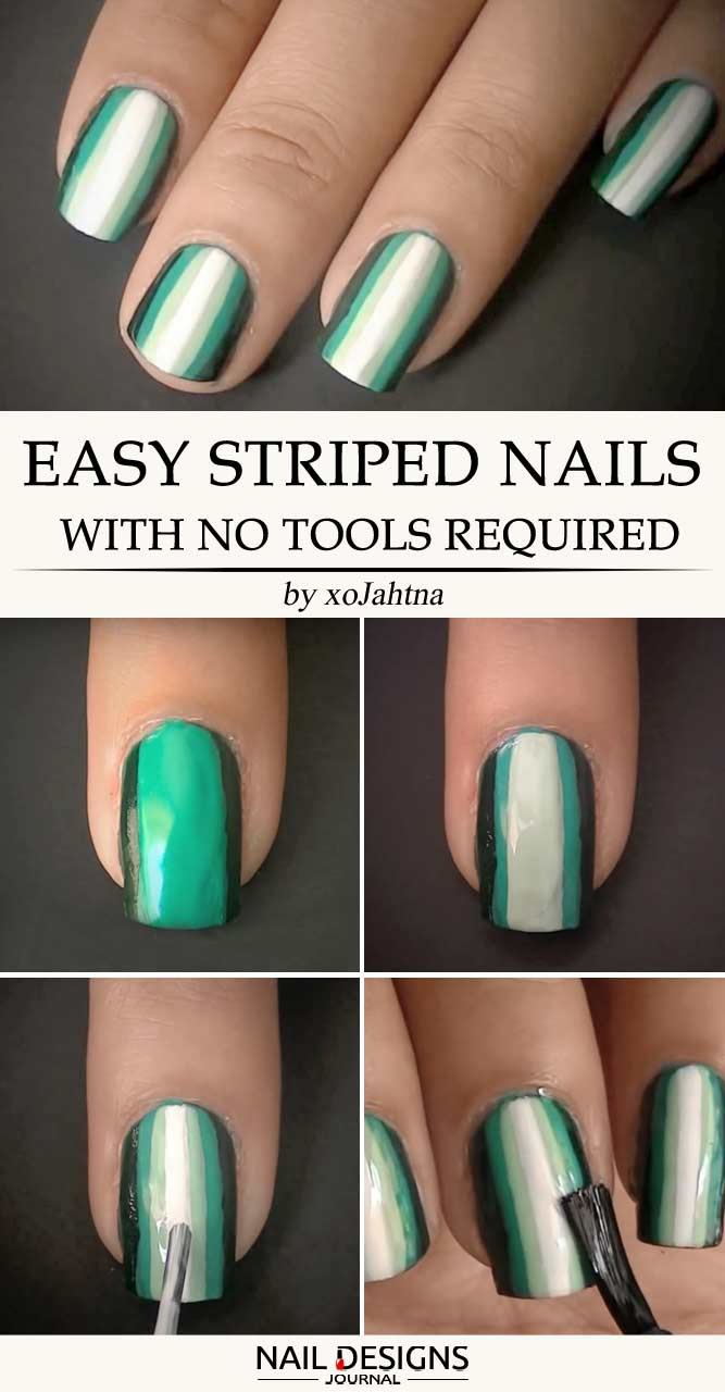 Easy And Unique Striped Nails Ideas To Pull Of Right Now Crazyforus