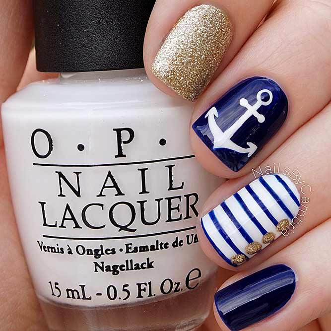 Classic Nautical Nails Art