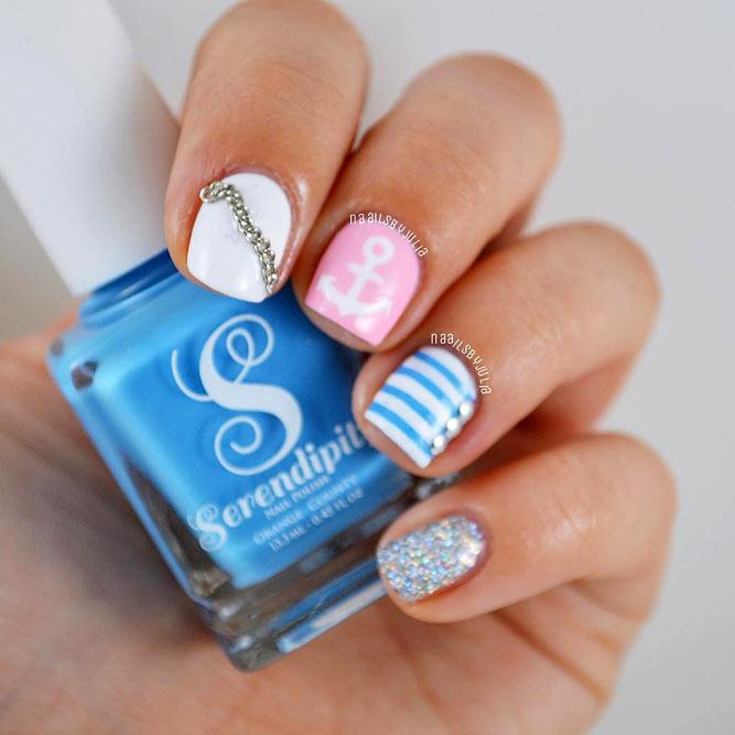 Sunny Summer Nail Design